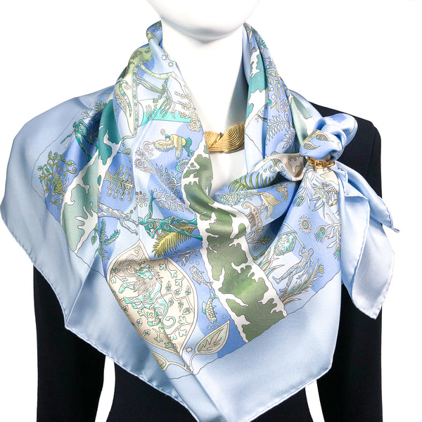 Rives Fertiles Hermes silk scarf by Christine Henry - 2005
