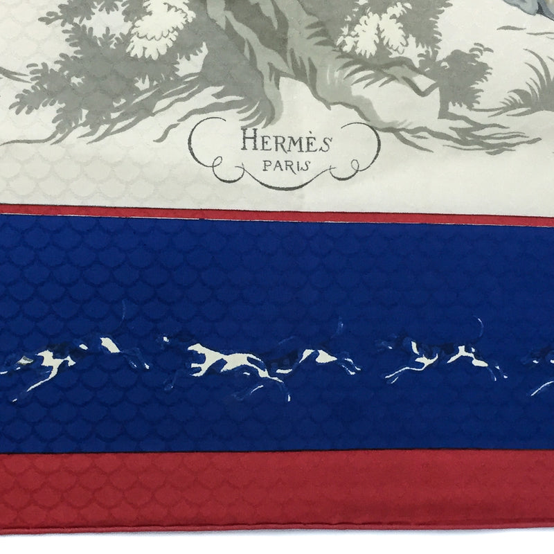 Venerie des Princes Hermes Silk Jacquard Scarf close up