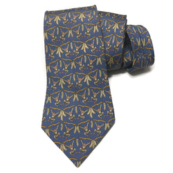 Hermes Silk Necktie 7448 HA Monkeys/Blue