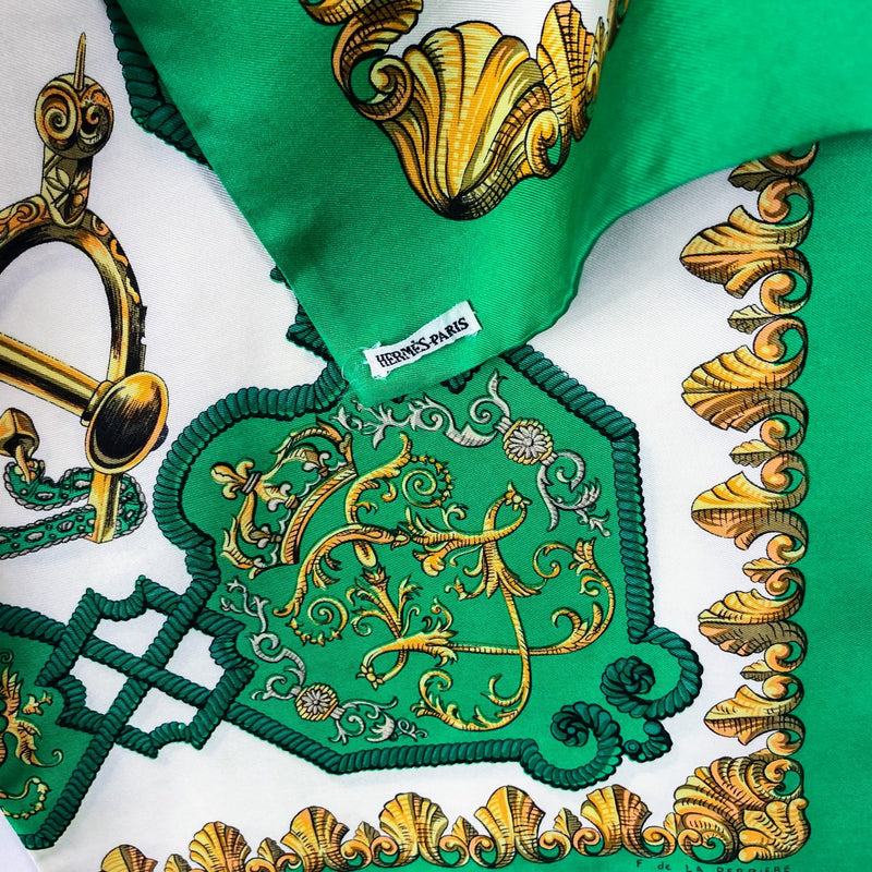 Louis XIV - Ludovicus Magnus Hermes Reversible Silk Opera Scarf with Hermes Tag