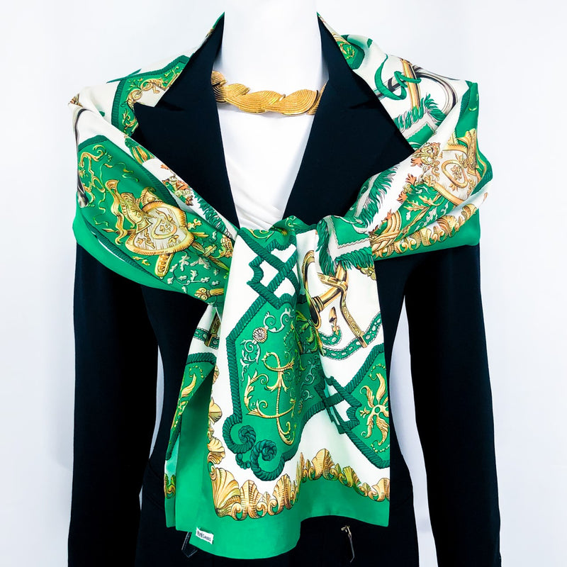 Louis XIV - Ludovicus Magnus Hermes Reversible Stole in green and white