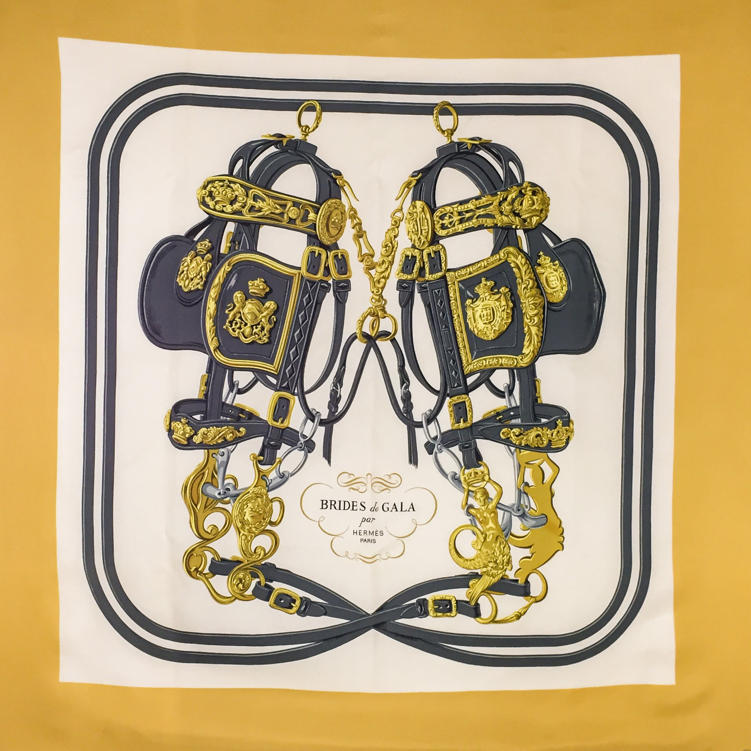 Vintage Hermes Silk Scarf Brides De Gala Early Issue