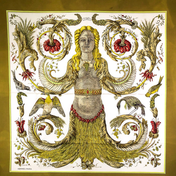 Ceres Hermes Scarf by Faconnet 90cm Silk