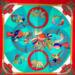 Hermes Silk Scarf Circus Annie Faivre's First Scarf for Hermes 1982