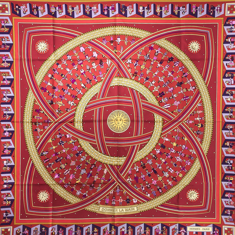 Hermes Silk Scarf Donner La Main or Give a Hand