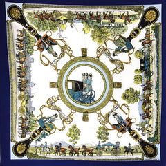 Hermes Silk Scarf Grands Attelages by Philippe Ledoux