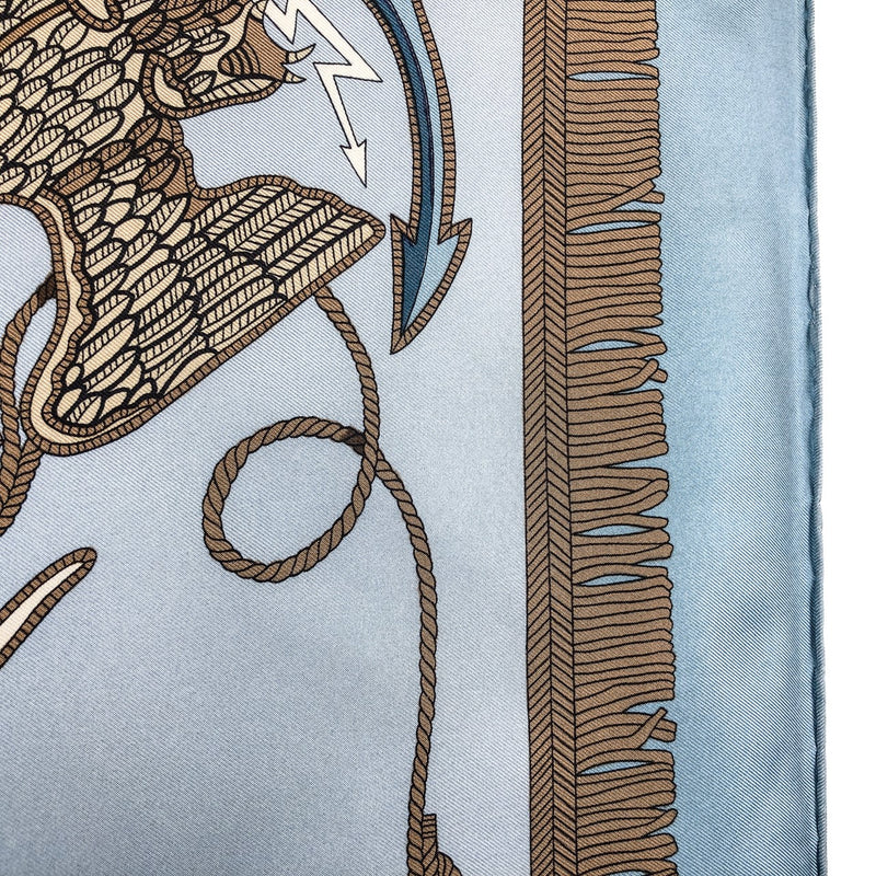 L'Indomptable Hermes Silk Scarf by Pierre Peron Very RARE