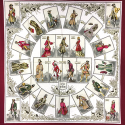 Hermes Silk Scarf La Tenue de Venerie Red CW Early Issue VERY RARE