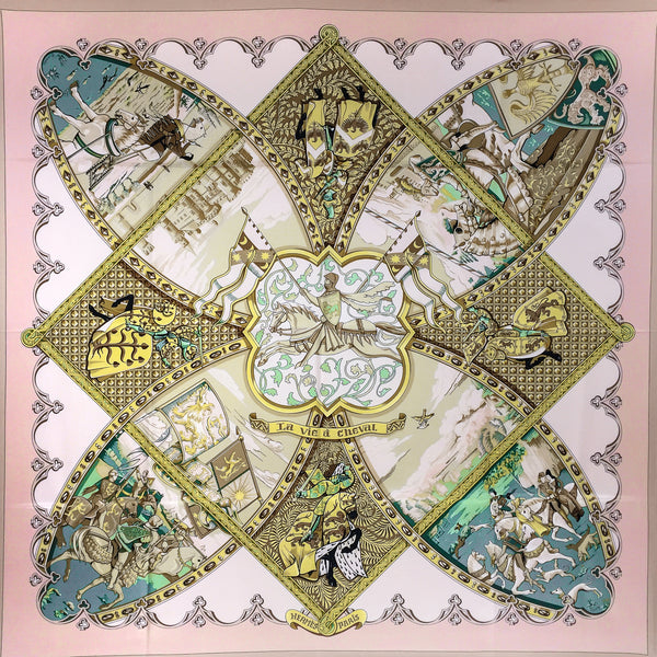 Hermes Silk Scarf La Vie a Cheval by Toutsy from 2001