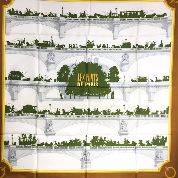 Les Ponts de Paris Hermes silk twill scarf