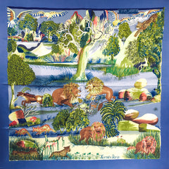 Nuba Mountain 90cm Twill Silk Hermes scarf