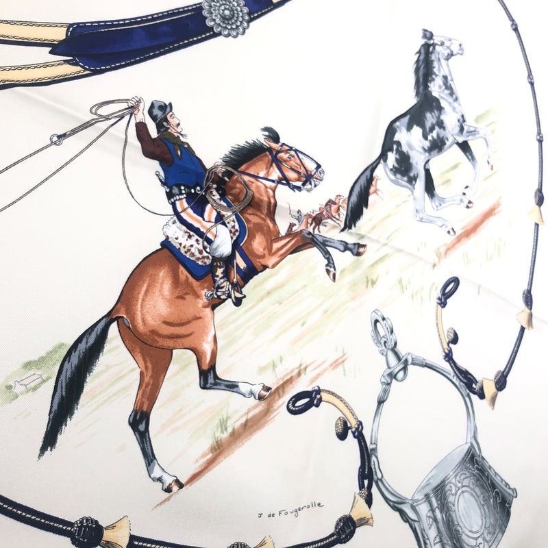 Pampa Hermes Scarf with yet another cowboy in action