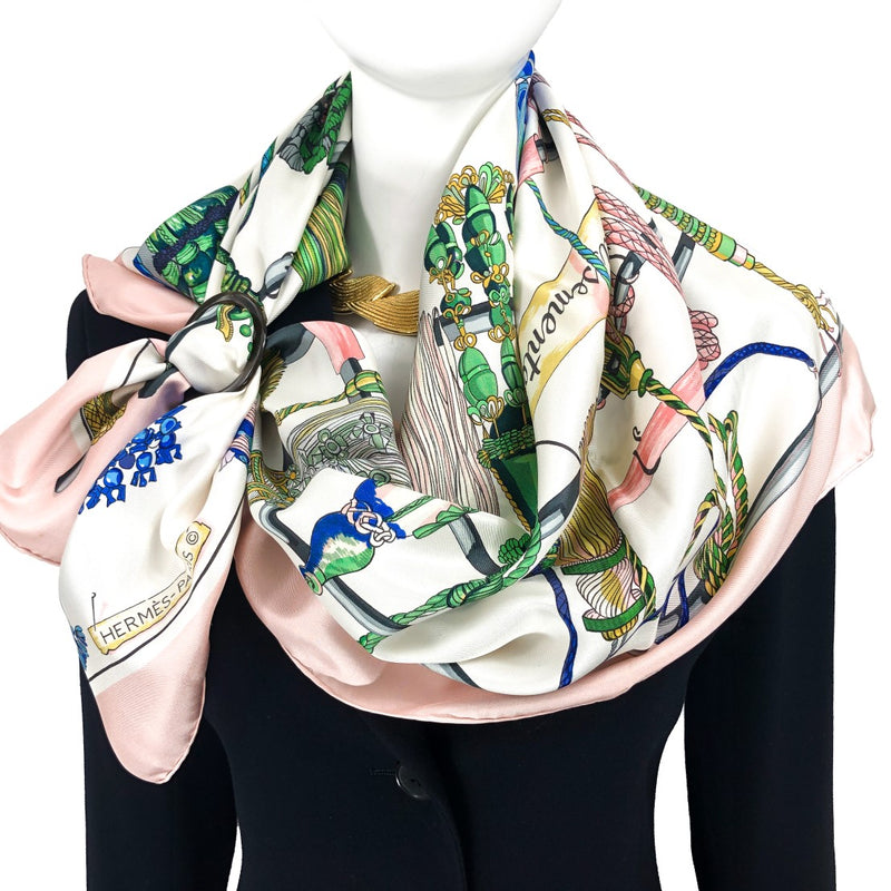 Passementerie Hermes Scarf (100% silk) looks fabulous against black