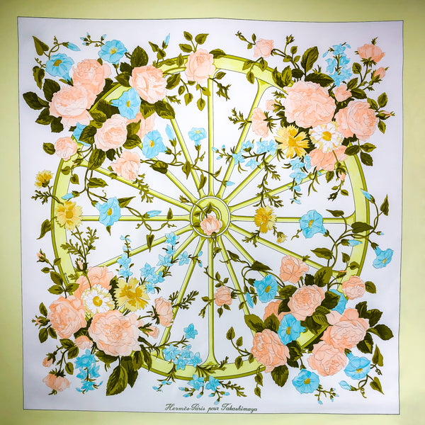 Hermes Silk Scarf Romantique Rare Special Takashimaya Issue