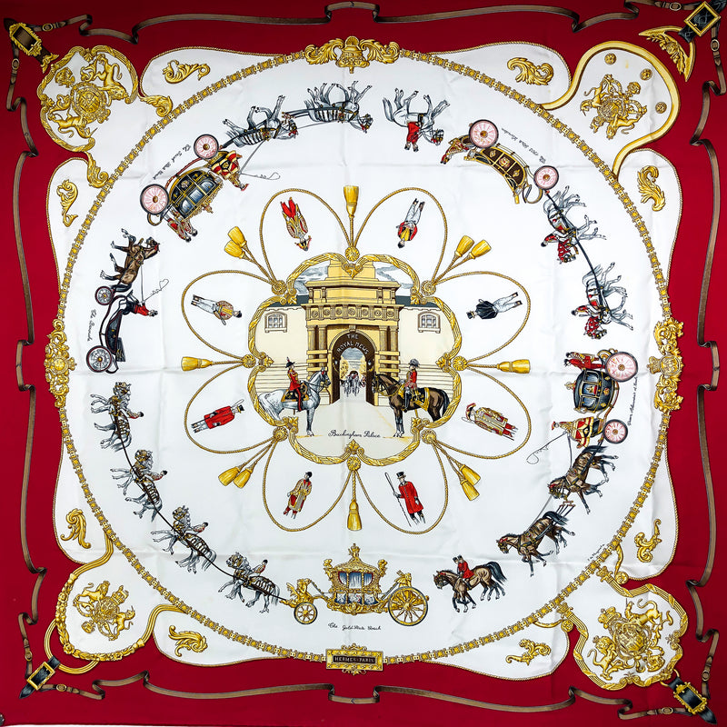 The Royal Mews - Buckingham Palace Hermes Silk Scarf RARE
