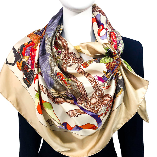 Turqueries en L'Honneur de Mr de Troy Hermès Silk Scarf (100% silk) - Pre Owned