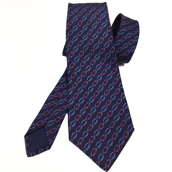 Hermes Silk Necktie 7021 TA Belt Design