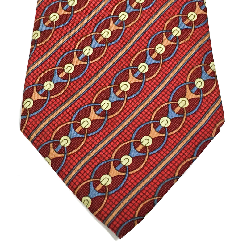 Hermes Silk Necktie in red and blue
