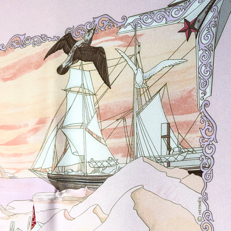Hommage a l'Explorateur Sir Ernest Shackleton Hermes Silk Scarf - copyright