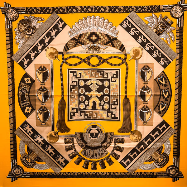 Huaca Piru Hermes Silk Scarf from 2001