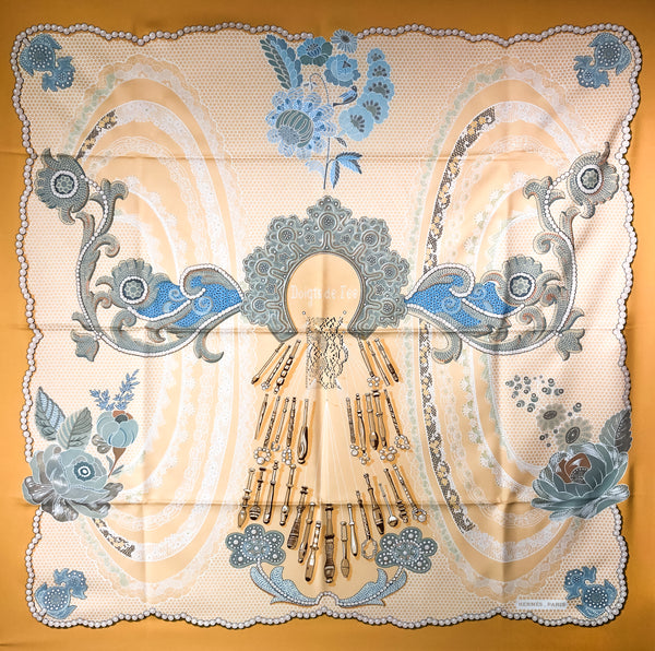 Doigts de Fee Hermes Silk Scarf by Caty Latham