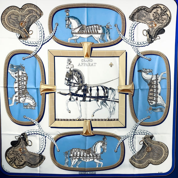 Grand Apparat Hermes Scarf by Eudel 90cm Silk