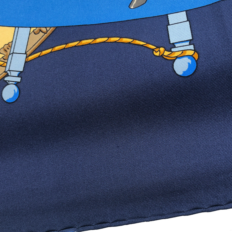 Musee Vivant du Cheval Hermes scarf close up of pulled thread