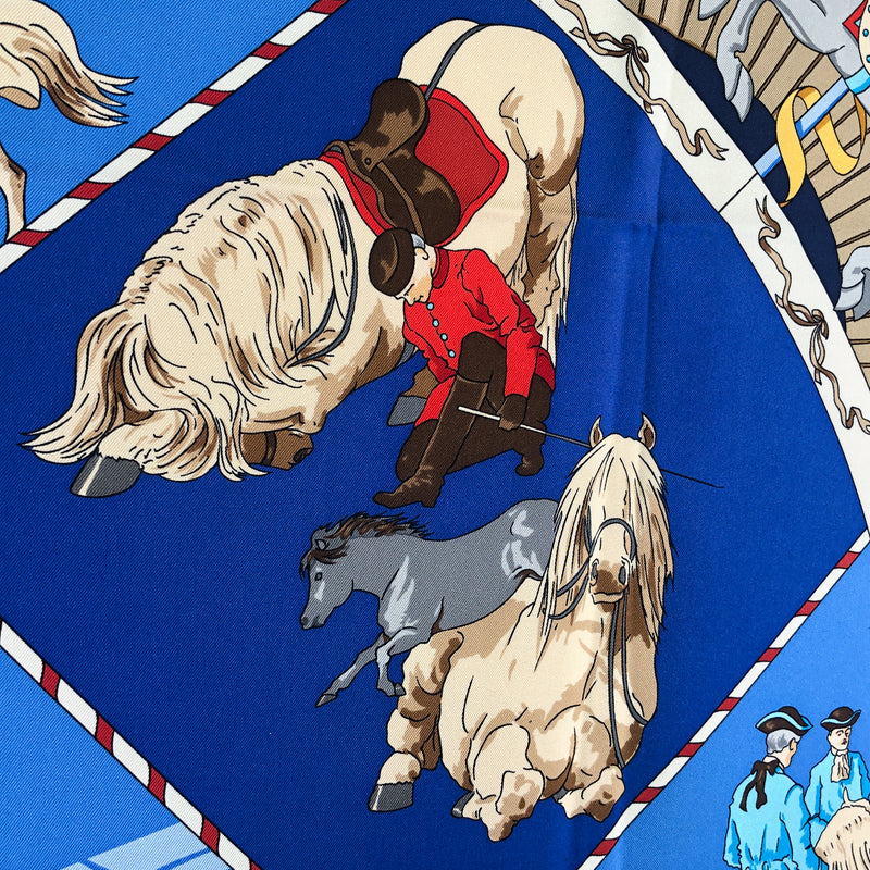 Musee Vivant du Cheval (Chantilly) Hermes scarf close up of rider bowing