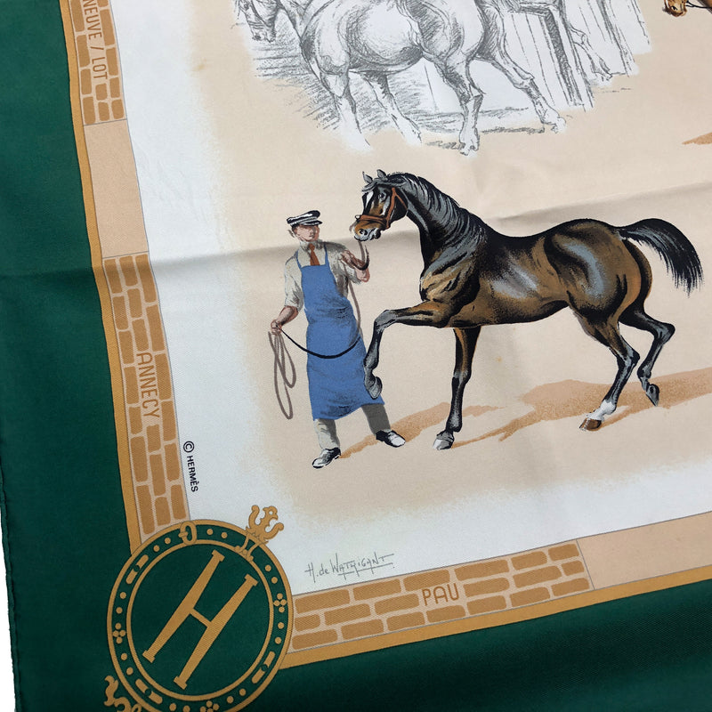Les Haras Nationaux Hermes Scarf By Watrigant 90cm Silk