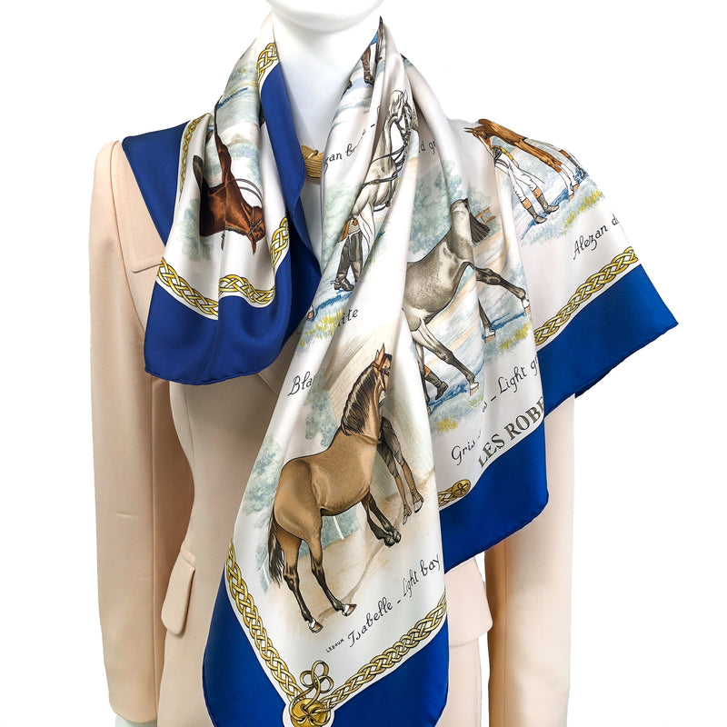 Les Robes Hermes Scarf By Ledoux 90cm Silk Early Issue
