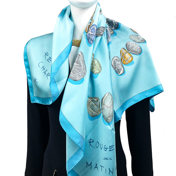 Impose Ta Chance Hermes Scarf by Valerie Dawlat-Dumoulin 90cm Silk
