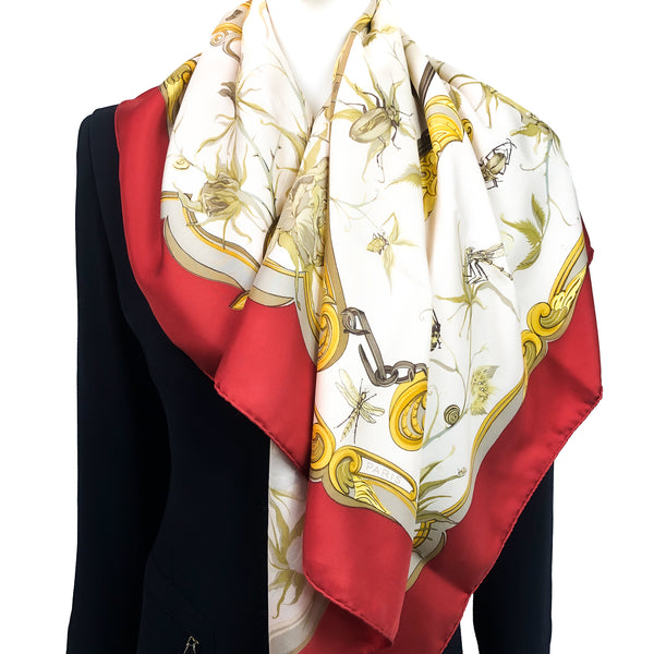 Ingrid Hermes Scarf by Lenke Szechwnzyl Early Issue Red Colorway
