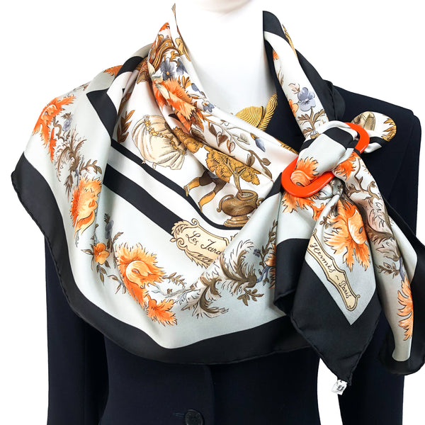 Les Jardiniers du Roy Hermes Scarf by Maurice Tranchant 90 cm Silk twill | Original Issue