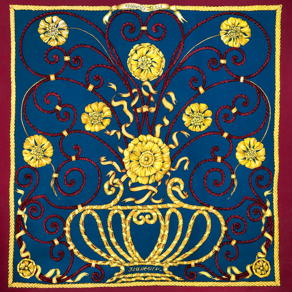Jouvence Hermes Scarf by Leila Menchari 90 cm Silk Early Issue