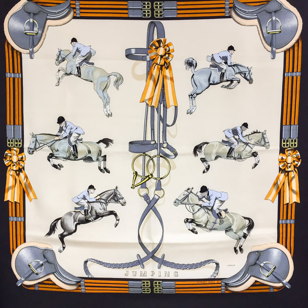 Jumping Hermes Silk Scarf 90 cm square