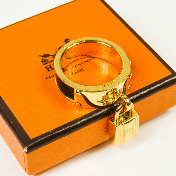 Hermes Kelly Scarf Ring with Box