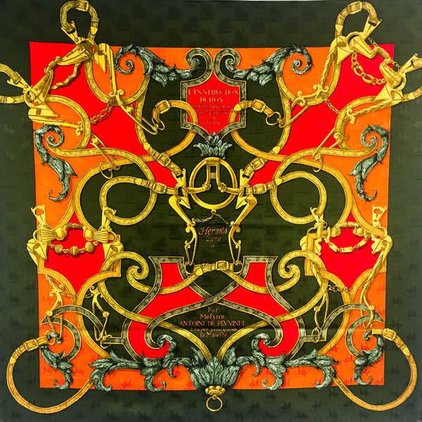 L'Instruction du Roy HERMES Silk Jacquard Scarf