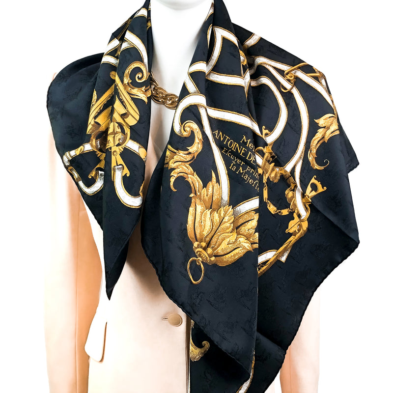 L'Instruction du Roy Hermes Scarf by Henry d'Origny 90 cm Silk Jacquard