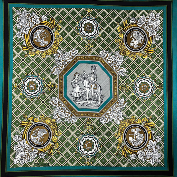 La Treille Hermes Scarf by Maurice Tranchant 90 cm Silk RARE