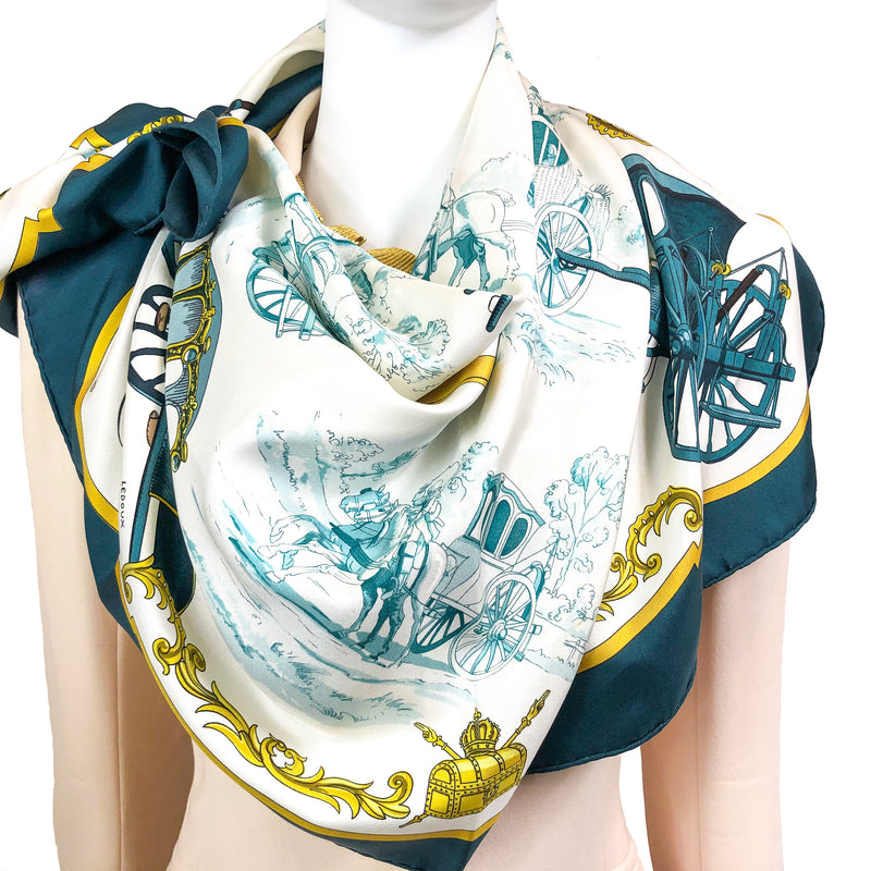 La Poste Hermes Silk Scarf by Philippe Ledoux - VERY RARE