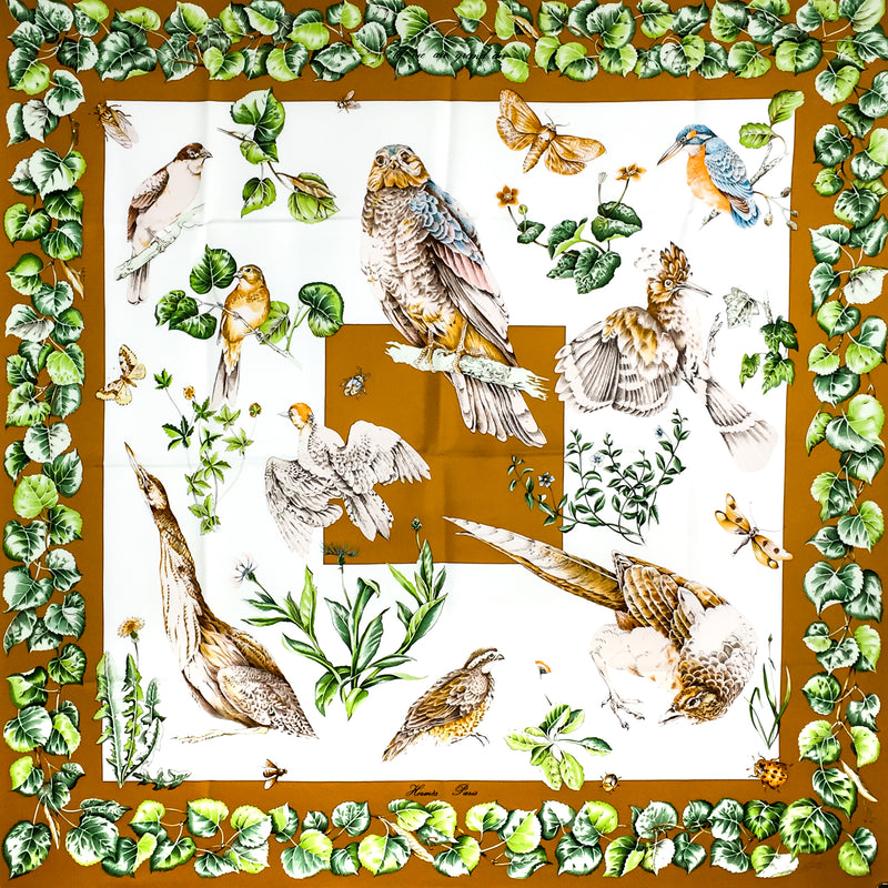 Hermes Silk Twill Scarf La Vie au Grand Air