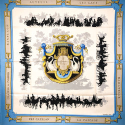 Le Bois de Boulogne Hermes Scarf by Hugo Grygkar 90 cm Silk Twill - Early issue