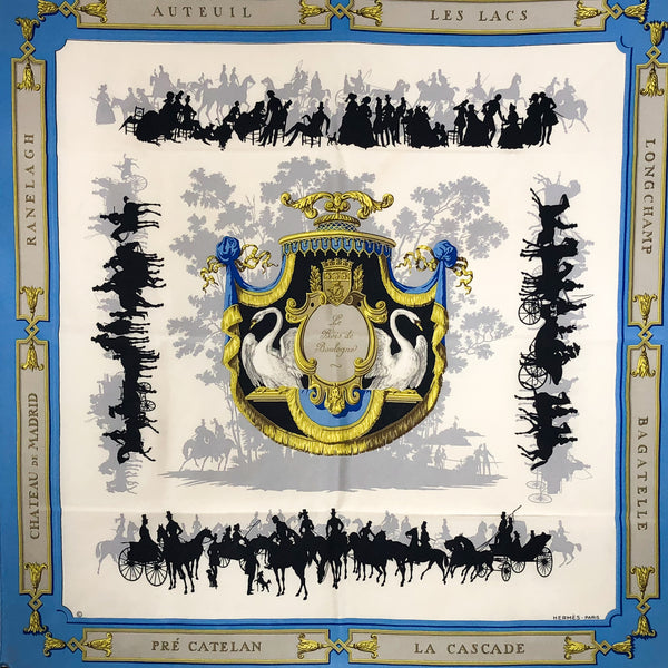 Hermes Silk Scarf Le Bois de Boulogne - Early GRAIL Issue