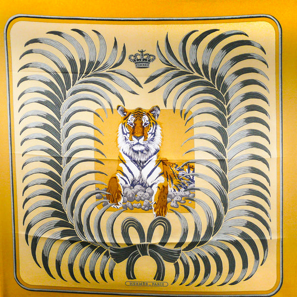 Le Tigre Royal HERMES Carre by Christiane Vauzelles