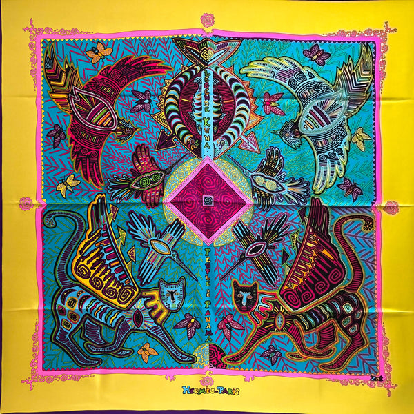 Legende Kuna Peuple de Panama Hermes scarf is a very colorful accessory