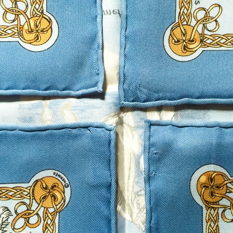 Les Robes Hermes Pocket Square by Philippe Ledoux Silk 42 cm