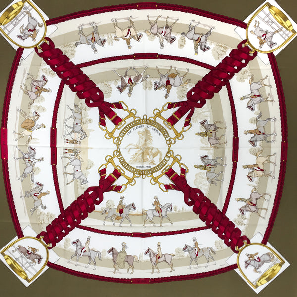 Les Allures du Cheval Hermes Silk Scarf 90cm twill