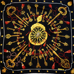 Les Cles Hermes Silk Scarf