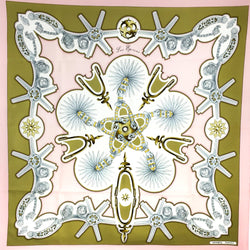 Les Eperons Hermes Silk Scarf Pink Early Issue