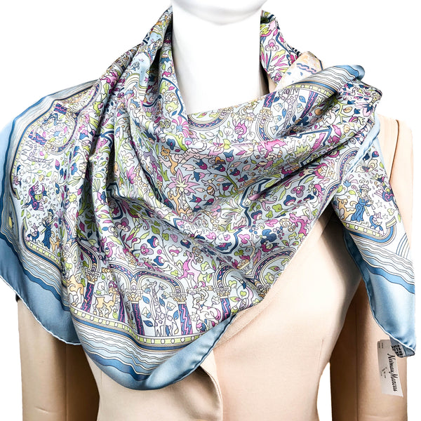 Les Jardins d'Armenie Hermes scarf in light blue